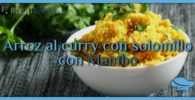 Arroz al curry con solomillo con Mambo