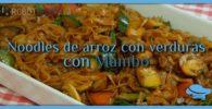 Noodles de arroz con verduras con Mambo