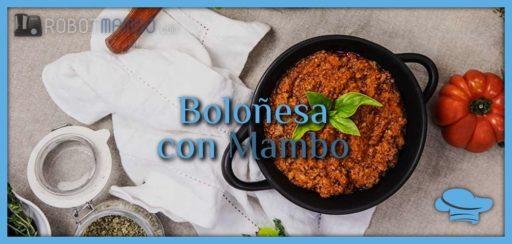 Salsa boloñesa con Mambo