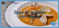 Sopa de marisco con Mambo